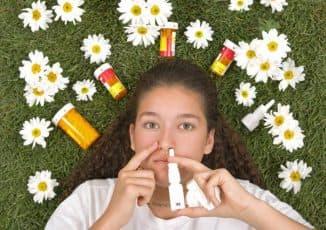 аллергия как причина першения в горле