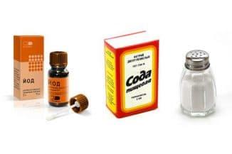 полоскание горла с помощью соды и соли