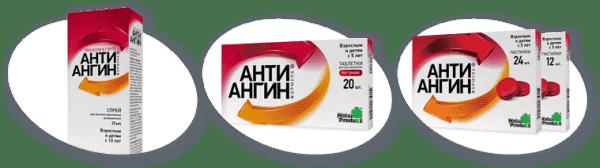 лекарственные формы препарата Анти-Ангин