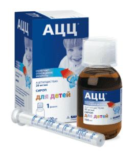 лекарственные формы АЦЦ: сироп для детей