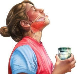 механизм полоскания горла