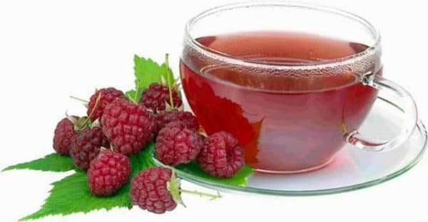 чаи на основе малины или же смородины