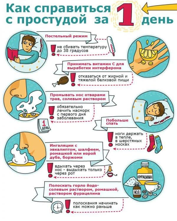 как справиться с простудой за один день