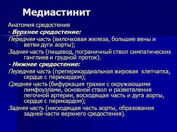Медиастинит