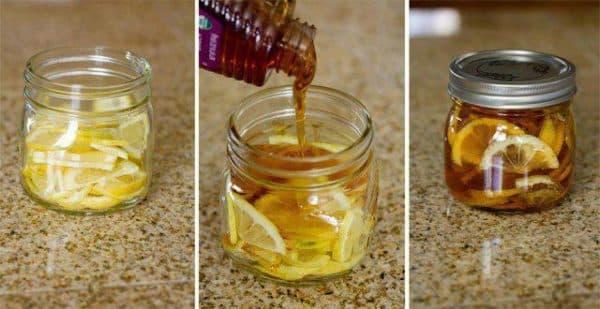Лимонно-медовая смесь при ангине