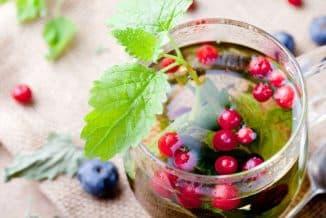 Чай из плодов малины, смородины, брусники