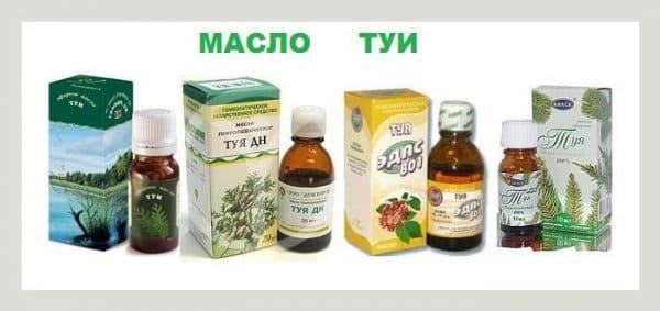 Разнообразие выпускаемых препаратов масла туи