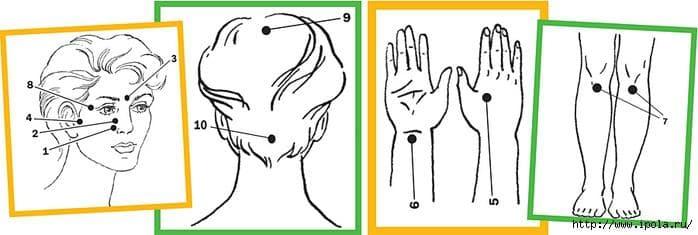 Как правильно делать точечный массаж при насморке